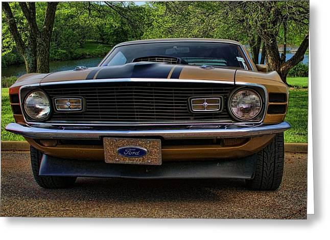 Greeting Card featuring the photograph 1970 Mustang by Tim McCullough