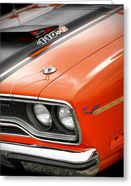 1970 Plymouth Road Runner 440 Greeting Card by Gordon Dean II