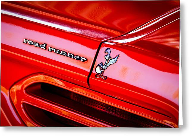 1970 Plymouth Superbird Road Runner Emblem -1418c Greeting Card by Jill Reger