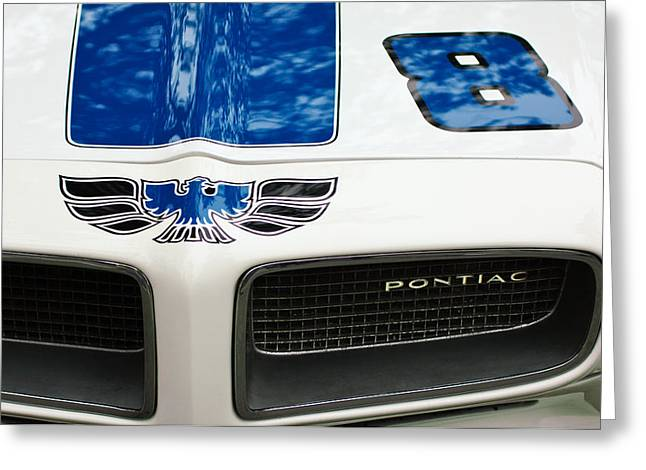 1970 Pontiac Firebird Grille Emblem Greeting Card by Jill Reger