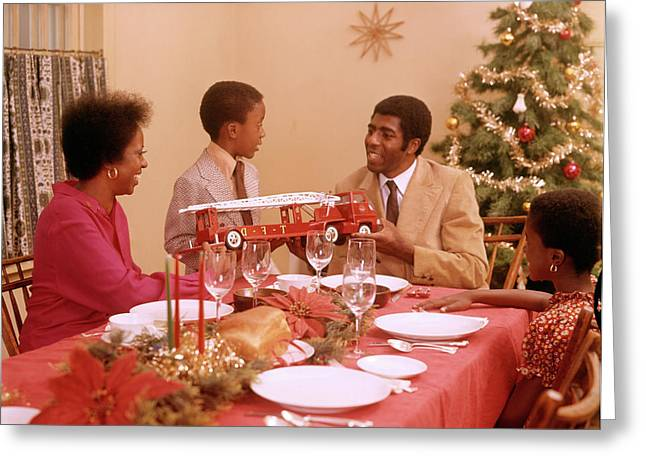 1970s African American Family Greeting Card