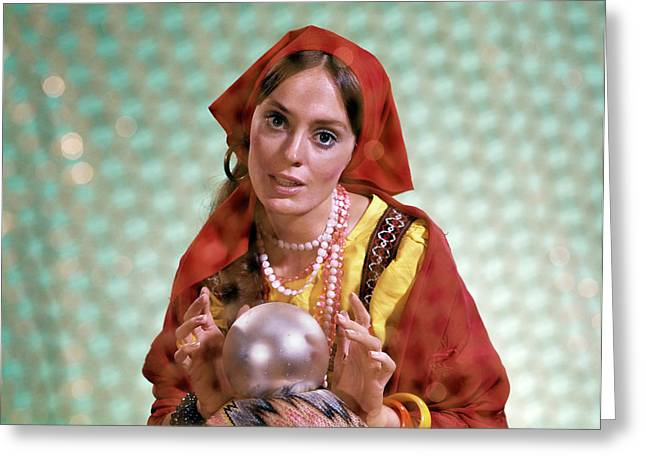 1970s Gypsy Woman Fortuneteller Fortune Greeting Card