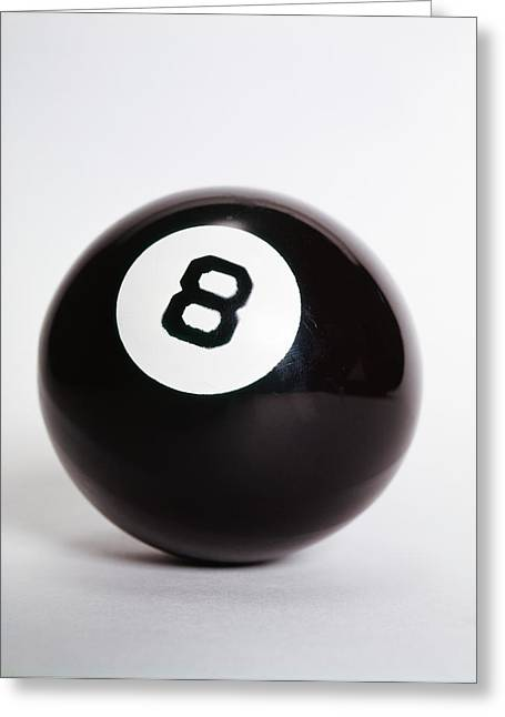Behind the 8 ball greeting cards fine art america 1970s pool billiard ball eight ball greeting card m4hsunfo