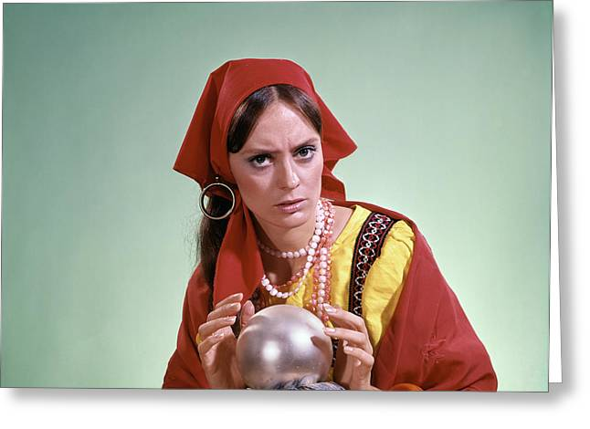 1970s Psychic Crystal Ball Fortune Greeting Card
