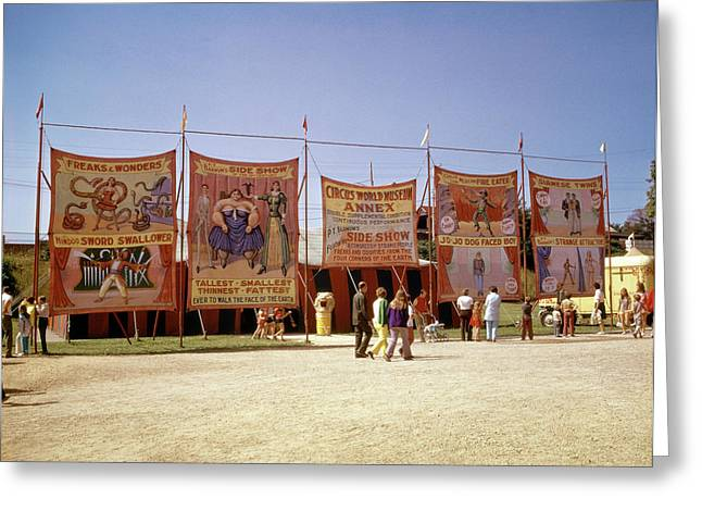 1970s Sideshow Tents Circus World Greeting Card