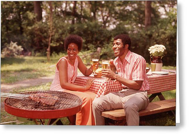 1970s Smiling African American Couple Greeting Card
