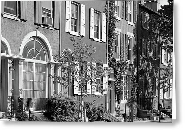 1970s Street Scene Residential Greeting Card