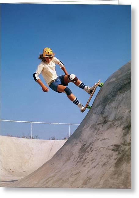 1970s Teenage Boy Wearing Safety Greeting Card