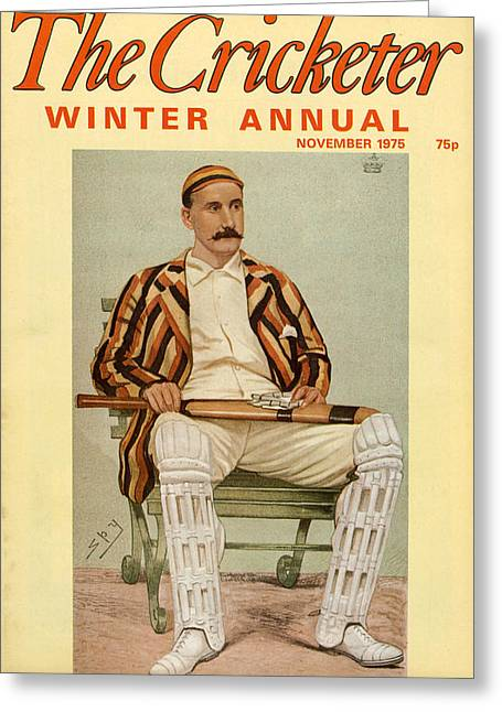 1970s Uk The Cricketer Magazine Cover Greeting Card by The Advertising Archives
