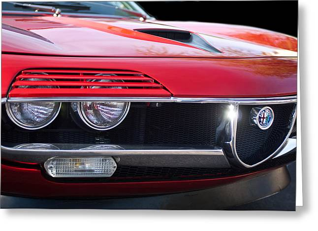 1971 Alfa Romeo Montreal Grille Emblem -0019c Greeting Card