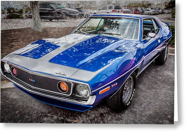 1971 Amc Javelin 360 Amx   Greeting Card by Rich Franco