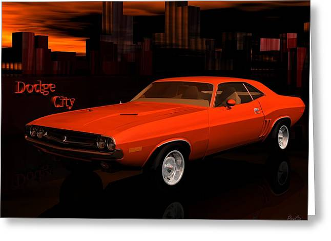 1971 Challenger Greeting Card by John Pangia