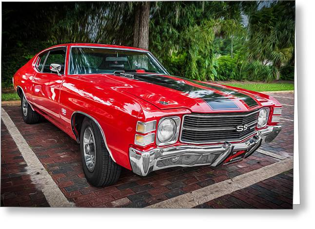 1971 Chevy Chevelle 454 Ss Painted  Greeting Card