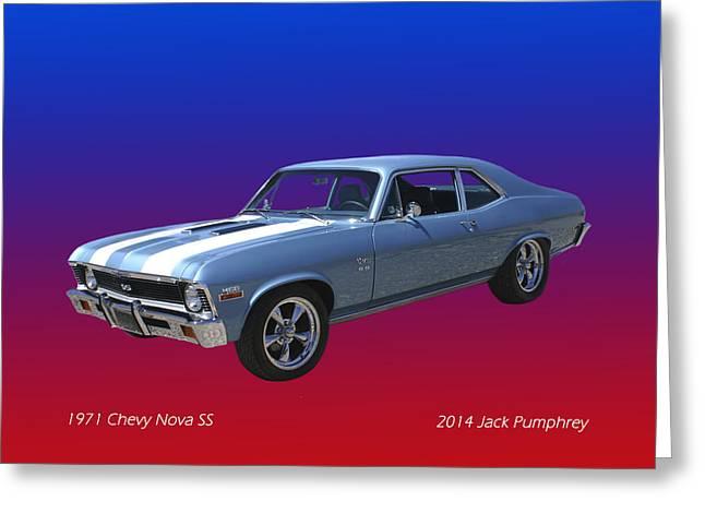 1971 Chevy Nova S S Greeting Card