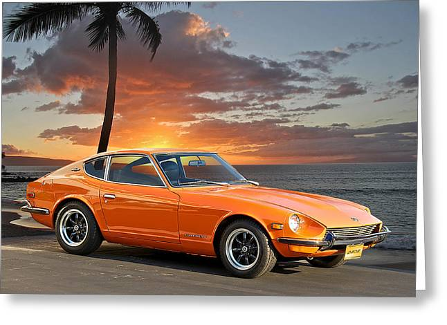 1971 Datsun 240z 'the Legend Begins' Greeting Card by Dave Koontz