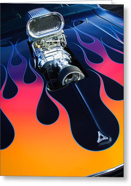 1971 Dodge Challenger 440 Hot Rod Engine Greeting Card by Jill Reger