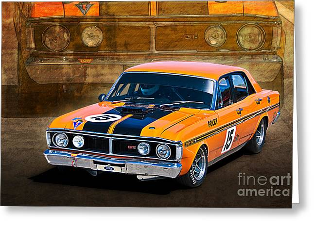 1971 Ford Falcon Xy Gt Greeting Card