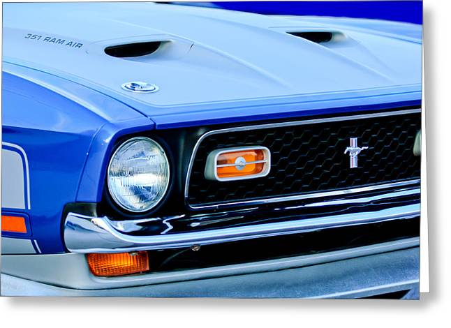1971 Ford Mustang Boss 351 Cleveland Greeting Card by Jill Reger