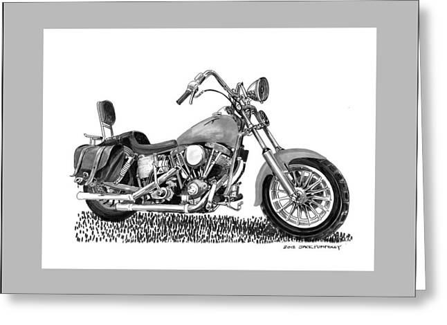 1971 Harley Davidson S O A Shovel Head F  L Greeting Card by Jack Pumphrey
