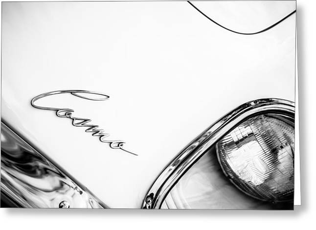 1971 Mazda Cosmo -0706bw Greeting Card by Jill Reger