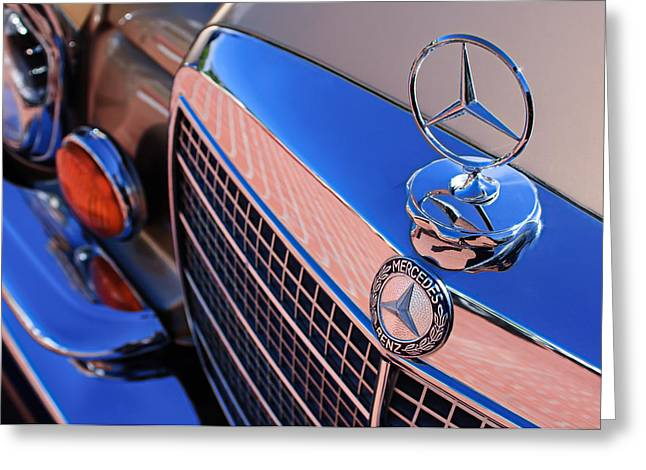 1971 Mercedes-benz 280se 3.5 Cabriolet  Greeting Card by Jill Reger