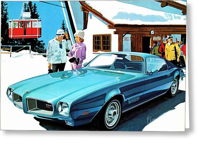1971 Pontiac Firebird Espirit Greeting Card