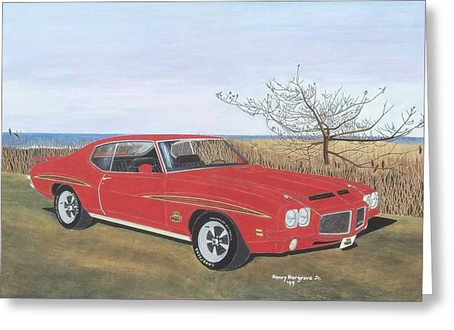 1971 Pontiac Gto Judge Greeting Card by Henry Hargrove
