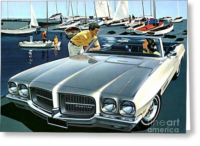 1971 Pontiac Lemans Sport Convertible Greeting Card