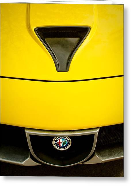 1972 Alfa Romeo Montreal Hood - Grille Emblem -0172c Greeting Card