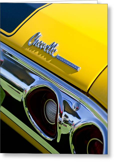 1972 Chevrolet Chevelle Taillight Emblem Greeting Card by Jill Reger