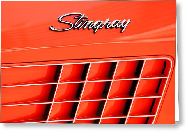 1972 Chevrolet Corvette Stingray Emblem 3 Greeting Card by Jill Reger