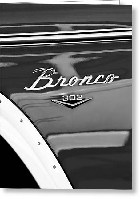 1972 Ford Bronco Emblem Greeting Card