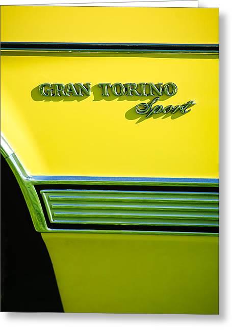 1972 Ford Gran Torino Sport Emblem Greeting Card