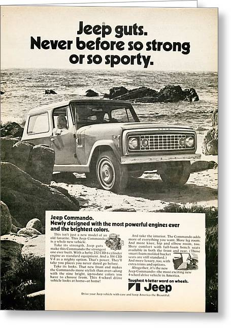 1972 Jeep Commando Greeting Card by Georgia Fowler