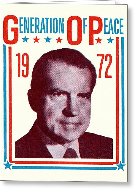 1972 Nixon Presidential Campaign Greeting Card by Historic Image