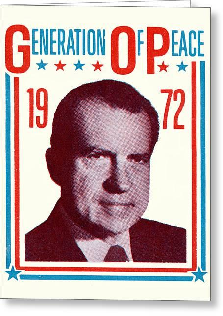 1972 Nixon Presidential Campaign Greeting Card