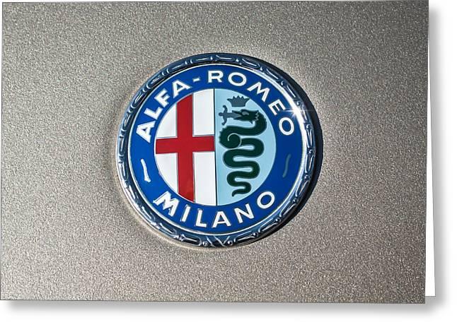 1973 Alfa Romeo Gtv Emblem -0226c55 Greeting Card