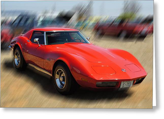 Greeting Card featuring the photograph 1973 Corvette by B Wayne Mullins