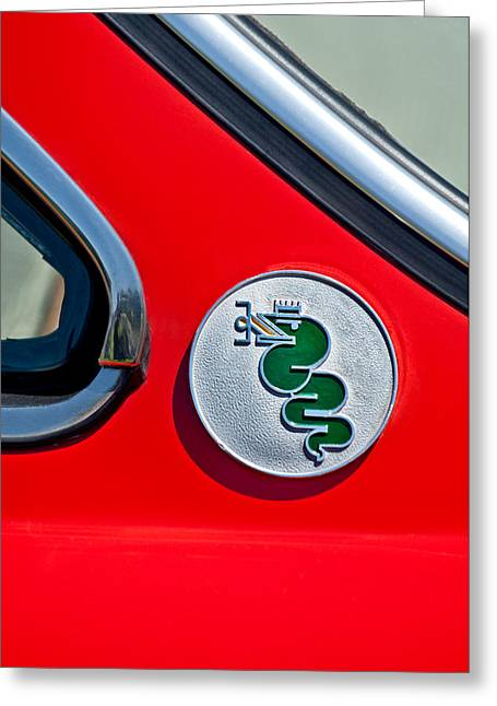 1974 Alfa Romeo Gtv Emblem  Greeting Card by Jill Reger