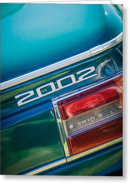 1974 Bmw 2002 Taillight Emblem -2358c Greeting Card by Jill Reger