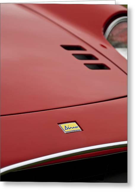 1974 Ferrari Dino 246gts Hood Emblem Greeting Card by Jill Reger