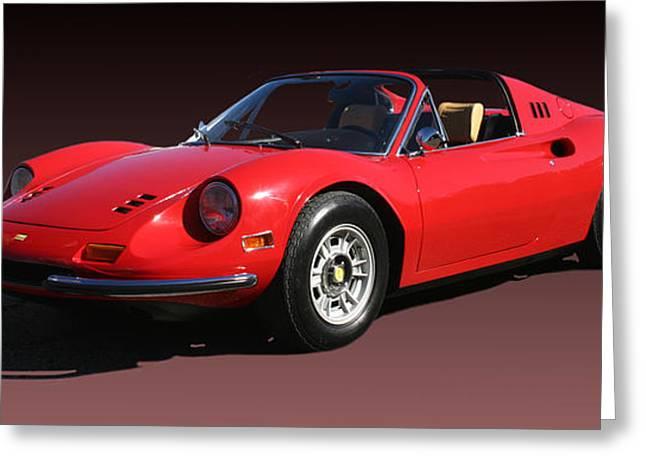 1974 Ferrari Dino Greeting Card by Jack Pumphrey