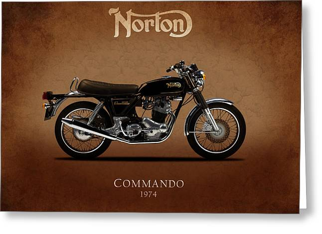 1974 Norton Commando Greeting Card