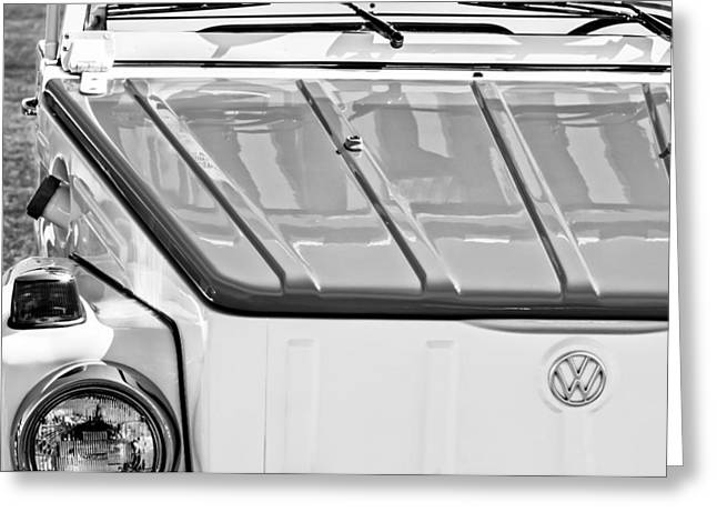 1974 Volkswagen Thing Acapulco Beach Car -3409bw Greeting Card
