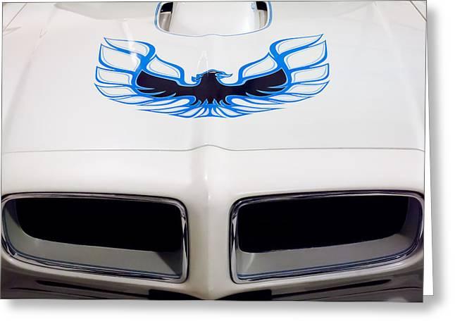 1975 Pontiac Trans Am Firebird Hood Painting Greeting Card by Jill Reger