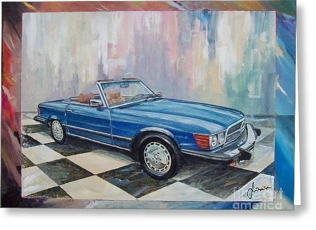 1976 Mercedes-benz 450 Sl Greeting Card
