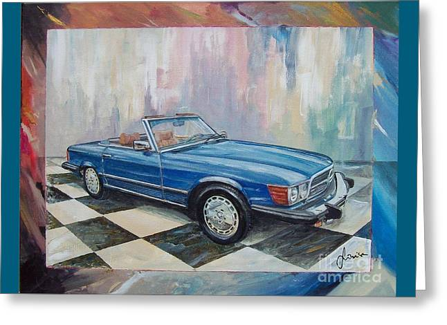 1976 Mercedes-benz 450 Sl Greeting Card