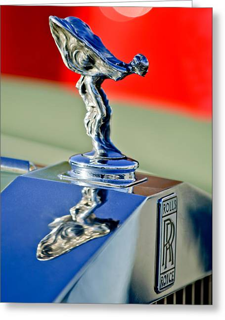 1976 Rolls Royce Silver Shadow Hood Ornament Greeting Card