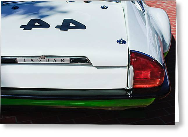 1978 Jaguar Xj-s Group 44 Trans-am Race Car Taillight Emblem Greeting Card