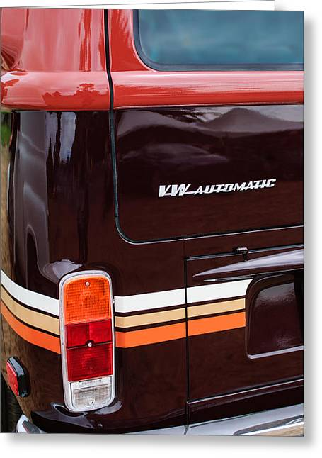 1978 Volkswagen Vw Champagne Edition Bus Taillight Emblem Greeting Card by Jill Reger